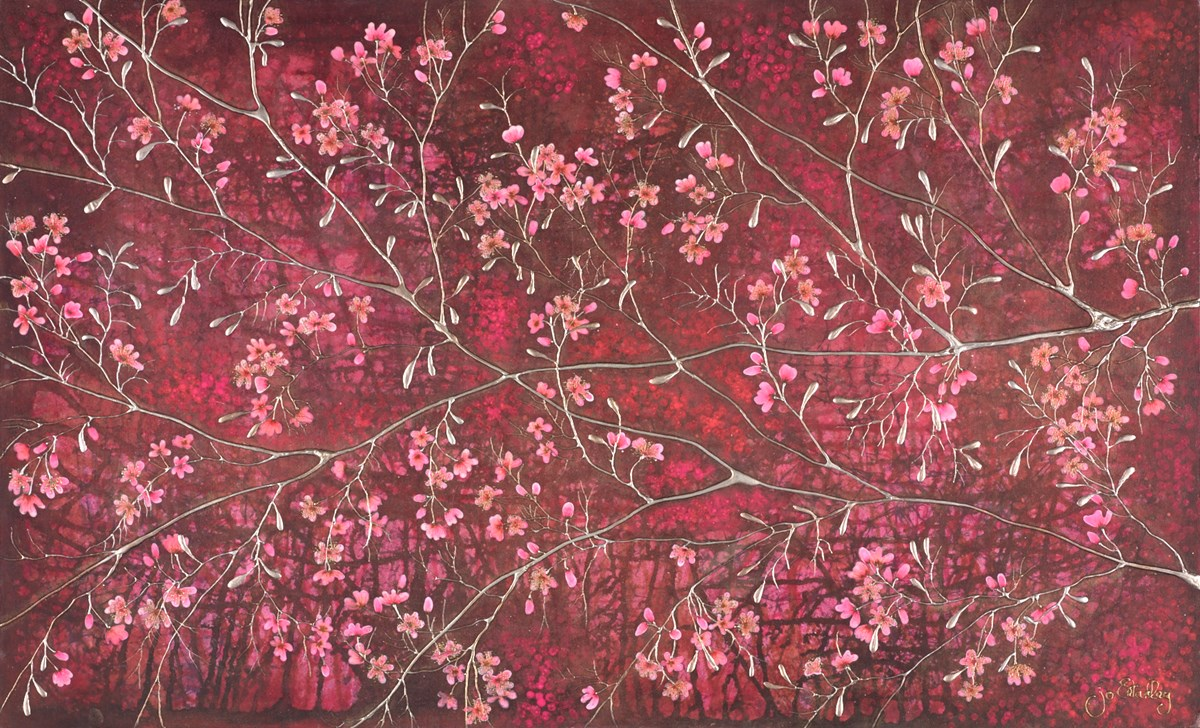 Ruby Bloom by jo starkey -  sized 39x24 inches. Available from Whitewall Galleries